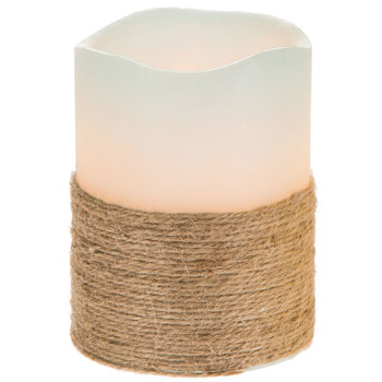 LED Pillar Candle With Rope