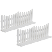 Miniature White Fences With Base