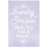 Laundry Services Stencil