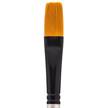 Premium Gold Taklon Flat Paint Brush