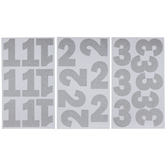 Silver Glitter Number Stickers
