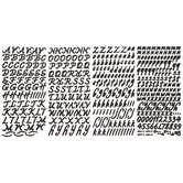 Black Script Alphabet Stickers