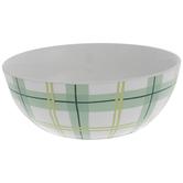 Dolly Parton White & Green Plaid Bowl