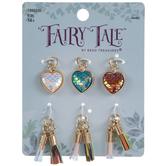 Mermaid Scale Heart & Tassel Charms