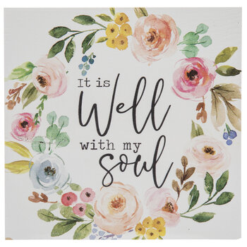 It Is Well With My Soul Wood Decor