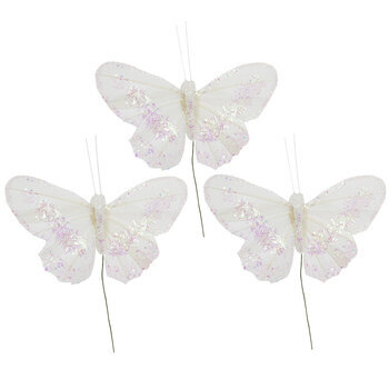 White Feather Butterflies