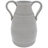 White Crackled Vase
