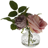 Purple & Pink Rose Arrangement
