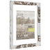 Distressed White Float Wood Wall Frame - 11