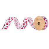 Mini Rose Floral Wired Edge Ribbon - 1 1/2""