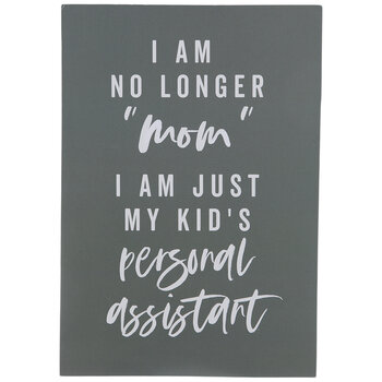 My Kid's Personal Assistant Wood Wall Decor