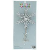 Silver Glitter Snowflake Mini Tree Topper
