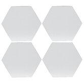 "Hexagon Magnetic Blank Canvas Set - 3"""