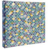 """Mermaid Scale Post Bound Scrapbook Album - 8"""" x 8"""""""