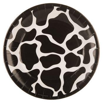 Black & White Cow Paper Plates