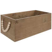 Brown Rectangle Wood Container