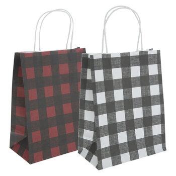 Buffalo Check Craft Gift Bags