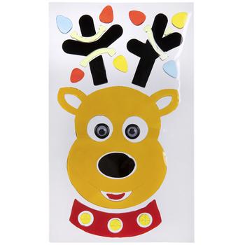 Reindeer Head Gel Cling