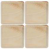 "Square Wood Plaques - 4"""