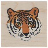 Tiger's Face Rubber Stamp