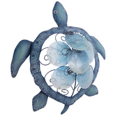 Blue Turtle Metal Wall Decor