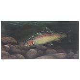 Rainbow Trout Wood Wall Decor
