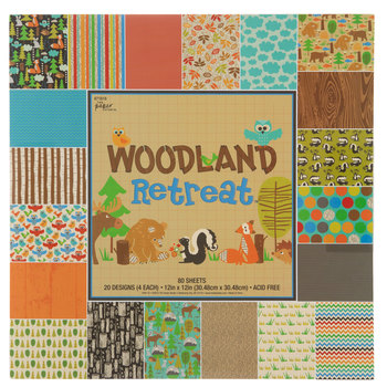 "Woodland Retreat Paper Pack - 12"" x 12"""