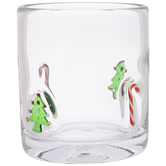 Tree & Candy Cane Glass