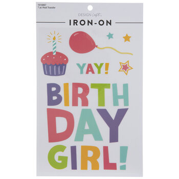Birthday Girl Iron-On Appliques