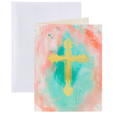 Gold Cross Watercolor Cards