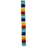 Rainbow Acrylic Rectangle Bead Strand