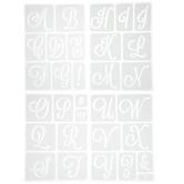 Elodie Uppercase Alphabet Adhesive Stencils