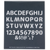 Bubble Uppercase Alphabet Stencils