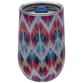 Multi-Color Ikat Stainless Steel Vacuum Cup