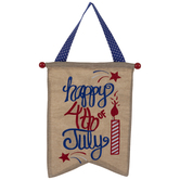 Happy 4th Of July Pennant Wall Decor