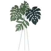 Green Tropical Leaves Metal Wall Decor