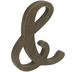 Brown Ampersand Wood Decor