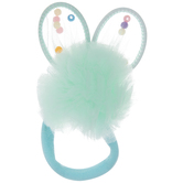 Blue Pom Pom Bunny Hair Ties