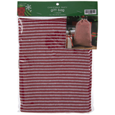 Red & White Striped Drawstring Gift Bag