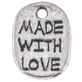 Made With Love Tag Charms