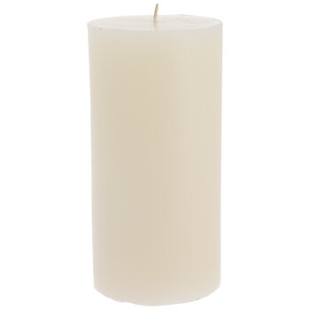 "Cozy Vanilla Pillar Candle - 3"" x 6"""