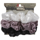 Fuzzy Iridescent Scrunchies