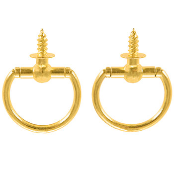 Brass Plated Ring Hangers