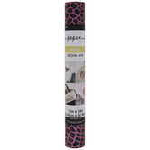 Pink Animal Print Foil Iron-On Transfer