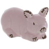 Light Pink Pig Lying Down