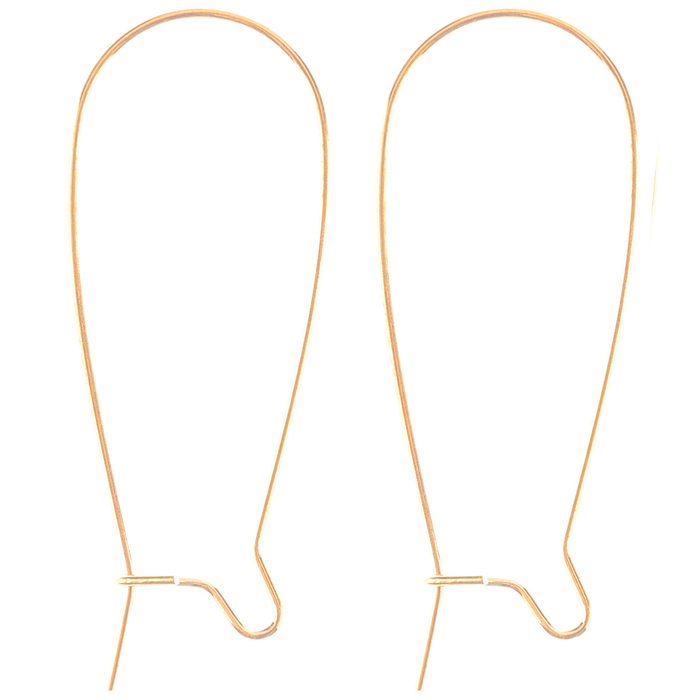 20g 67pcs Iron Kidney Ear Wires Earring Findings 35x15x1mm Gold//Nickel Plated BW