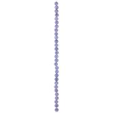 Purple Smoky Round Bead Strand