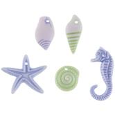 Blue & Green Starfish & Seahorse Bead Mix