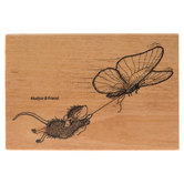 Butterfly Ride Rubber Stamp