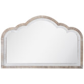 Whitewash Scalloped Wood Wall Mirror